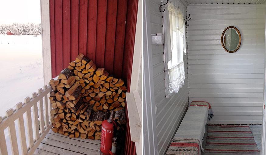 Sauna entrance.